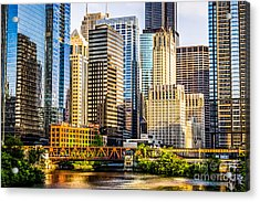 Picture Of Chicago Buildings At Lake Street Bridge Acrylic Print