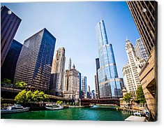 Picture Of Chicago Skyline At Michigan Avenue Bridge Acrylic Print