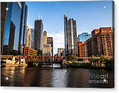 Picture Of Downtown Chicago Loop Buildings Acrylic Print by Paul Velgos