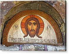Picture Of Jesus Inside The Tsminda Sameba Cathedral Tbilisi Acrylic Print