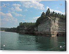 Pictured Rocks Battleship Formation Acrylic Print