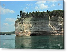 Pictured Rocks Battleship Formation Side View Acrylic Print