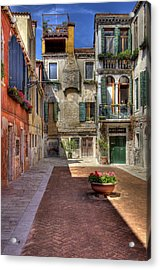 Acrylic Print featuring the photograph Picturesque Alley by Uri Baruch