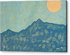 Picuris Mountains Original Painting Acrylic Print