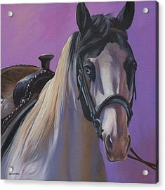 Acrylic Print featuring the painting Piebald by Alecia Underhill