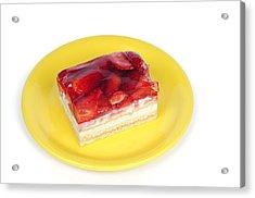 Piece Of Strawberry Cake Acrylic Print by Matthias Hauser