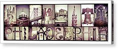 Pieces Of Philly Acrylic Print