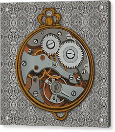 Pieces Of Time Acrylic Print by Meg Shearer