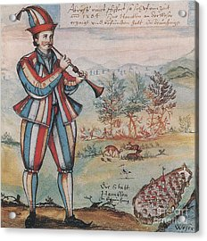 Pied Piper Of Hamelin, German Legend Acrylic Print by Photo Researchers