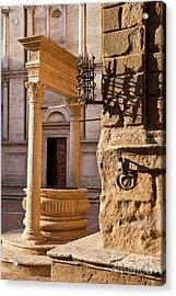 Pienza Tuscany Acrylic Print by Brian Jannsen