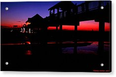 Acrylic Print featuring the photograph Pier 60 In After Glow 2 by Richard Zentner
