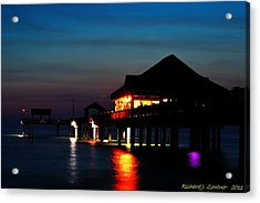 Pier 60 In After Glow Acrylic Print by Richard Zentner