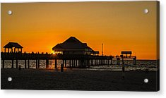 Pier 60 Sunset Acrylic Print