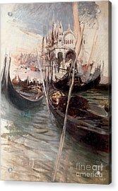 Pier And Saint Marc In Venice Acrylic Print