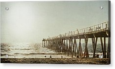 Acrylic Print featuring the photograph Pier Approaching Sunset by Kevin Bergen