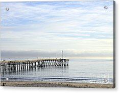 Pier Acrylic Print by Gandz Photography