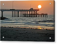 Pier At Dawn Acrylic Print