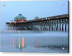 Pier At Folly Beach Acrylic Print