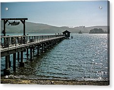 Pier At Nick's Cove Acrylic Print by Amy Fearn