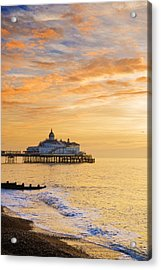 Pier At Sunrise Acrylic Print