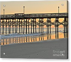Pier At Sunset Acrylic Print