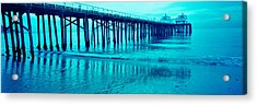 Pier At Sunset, Malibu Pier, Malibu Acrylic Print by Panoramic Images