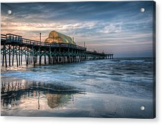 Pier Before Sunrise Acrylic Print