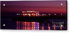Pier By Night Acrylic Print by Mark Bowden