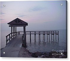 Pier Early Morning 1 Acrylic Print by D Wallace