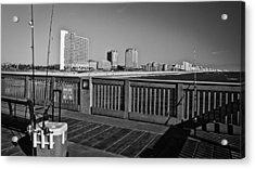 Pier Fishing Acrylic Print