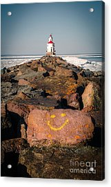 Acrylic Print featuring the photograph Pier Happiness by Mark David Zahn Photography