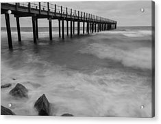 Pier In A Storm Acrylic Print