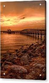 Pier In The Ocean Acrylic Print by Celso Diniz