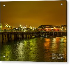 Pier Lights Acrylic Print by Dale Nelson