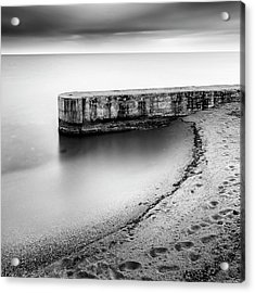 Pier On The Beach Acrylic Print by George Digalakis