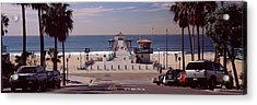 Pier Over An Ocean, Manhattan Beach Acrylic Print by Panoramic Images