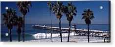 Pier Over An Ocean, San Clemente Pier Acrylic Print