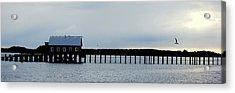 Pier Panorama Acrylic Print by Mamie Gunning
