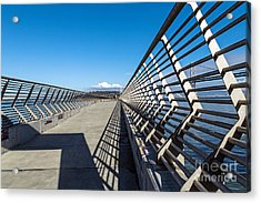 Acrylic Print featuring the photograph Pier Perspective by Kate Brown