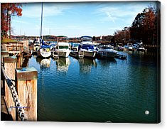 Pier Pressure - Lake Norman Acrylic Print by Paulette B Wright