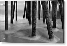 Pier Pressure Acrylic Print by Paul Noble
