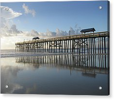 Pier Reflection Acrylic Print