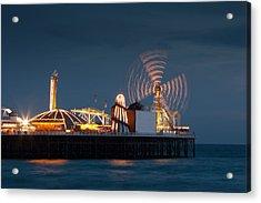 Pier Resplendant Acrylic Print by Jacqui Collett