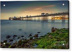 Pier Seascape Acrylic Print by Adrian Evans