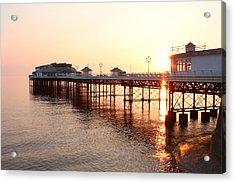 Pier Sunrise  Acrylic Print