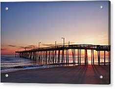 Acrylic Print featuring the photograph Pier Sunrise by Gregg Southard