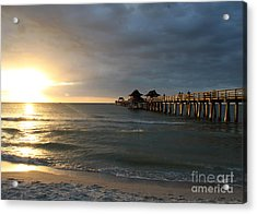 Pier Sunset Naples Acrylic Print