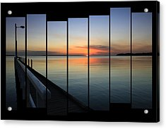 Pier View Sunset Acrylic Print by Kim Andelkovic