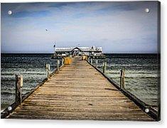 Pier Walkway Acrylic Print