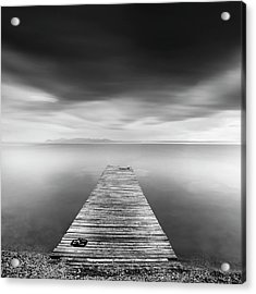 Pier With Slippers Acrylic Print